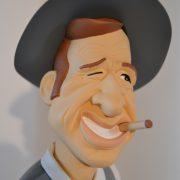 "Figurine Belmondo ""borsalino"" portait"