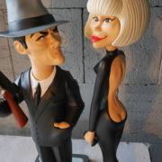 Figurines M. Darc et A; Delon